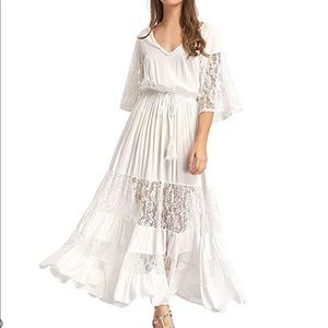 ⭐️NWOT⭐️ White Maxi Dress
